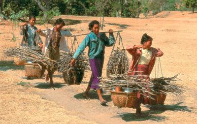 Bagan people working