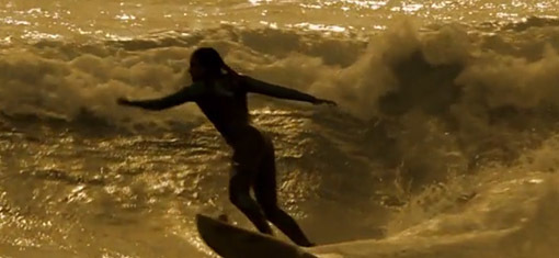 surf in the late afternoon