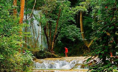 erawan waterfall lower tier