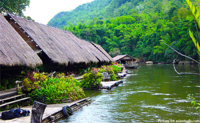 river kwai floating cottages