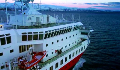 the hurtigruten polar ship