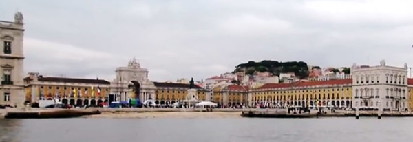 old town Lisbon and Tejo River