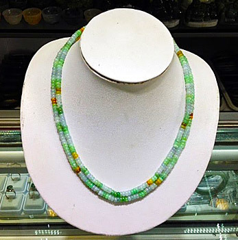 jadeite jewelry necklace green
