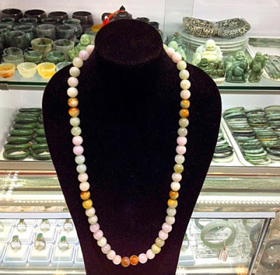 jadeite jewelry necklace various colors