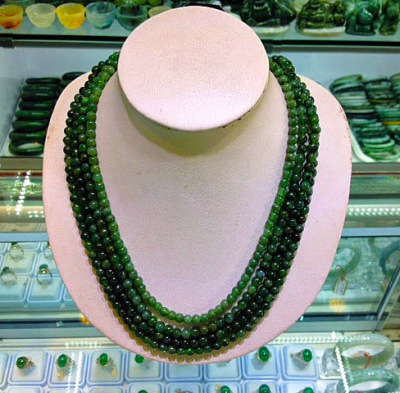 imperial jade jewelry necklace with beads