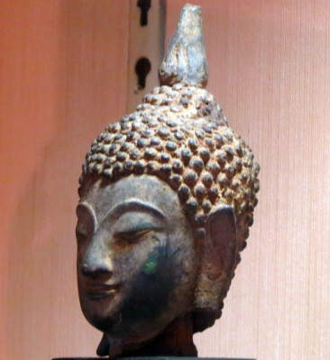 Buddha head in the Thailand national Museum Bangkok