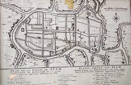 old Ayutthaya map