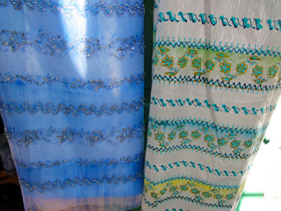 Yangon silk shopping at Bogyoke Market