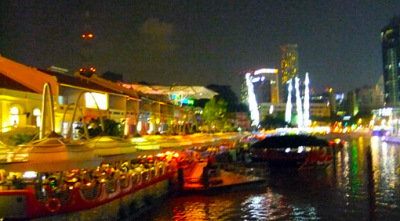 Waterfront dinner at Clarke Quay
