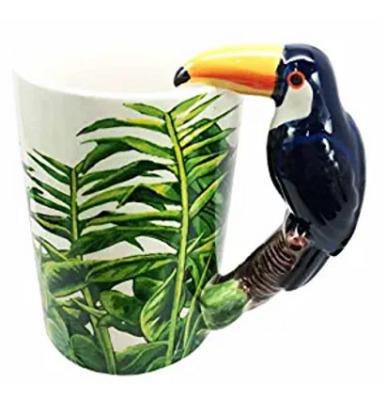 Tropical Bird Ceramic Mug Coffee Cup