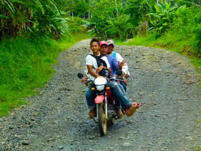 motorbike tour to Mount Apo