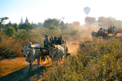 Leaving Bagan by local traffic