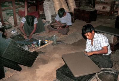 Lacquer furniture workshop