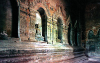Bagan Buddhist Temple Interior