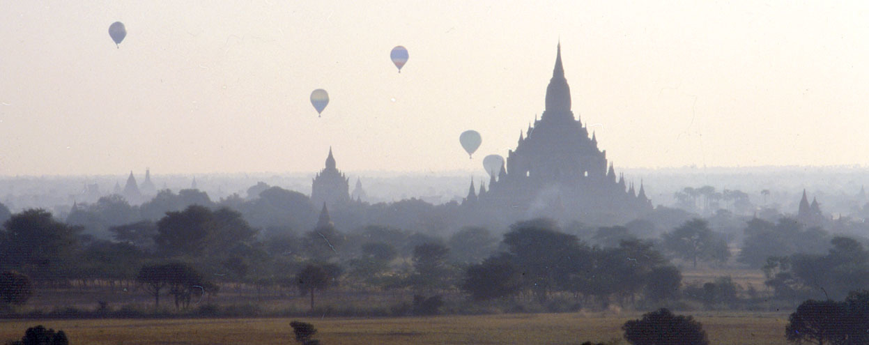 Bagan old monuments meet new technology