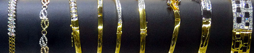 Myanmar gold and diamond bracelets