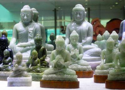 Jade Buddha Statues sitting
