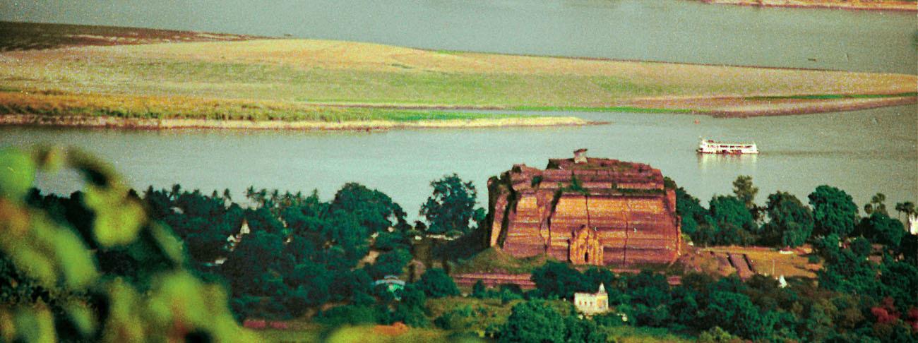 Mingun Pagoda and Irrawaddy Ayeyarwady River