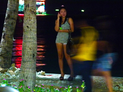 Hooker at Pattaya Beach Road