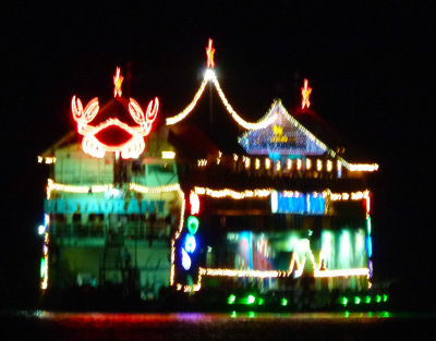 Floating restaurant in Pattaya