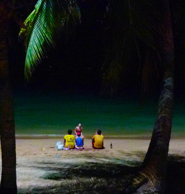 at night at beach road