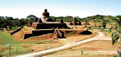 Buddhist temple at Mrauk U