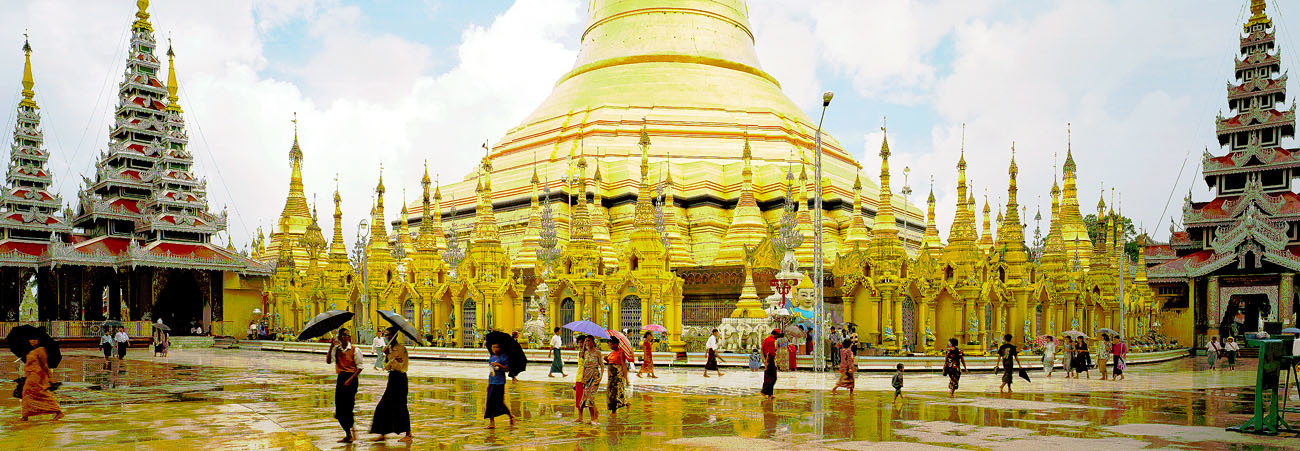 around the big shwedagon stupa