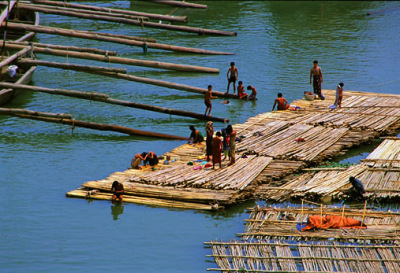 Mandalay Irrawaddy River Bamboo Rafts Travel