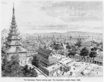 Mandalay Palace in 1886