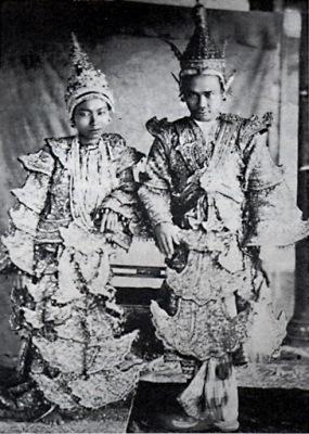 Queen Supayalat and King Mindon Min