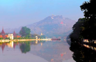 Mandalay palace wall and moat