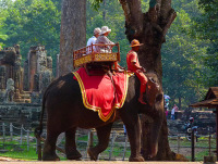 Elephant ride at Angkor Wat