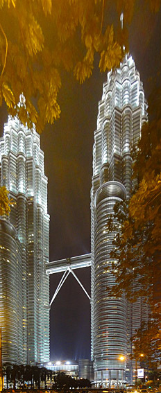 Petronas twin-tower at night