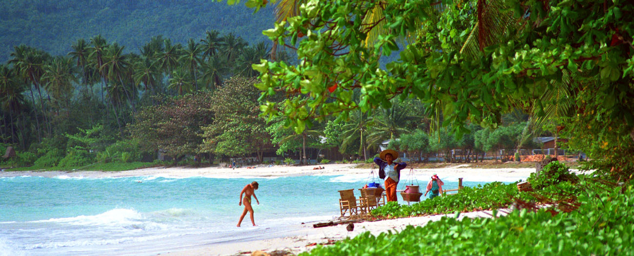 secluded beach in southeast Asia