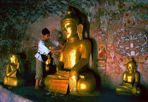 Phowintaung Cave Pagoda interior