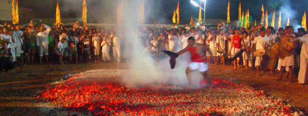 Vegetarian Festival walk on fire
