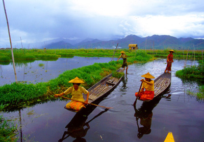 Inle Lake floating garden