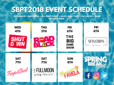 SBPT2018 EVENT SCHEDULE IS HERE!