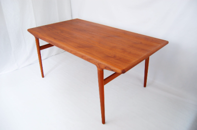 North west, West coast, Furniture, mcm, mod, mid century modern, vintage, teak, mid century 55, midcentury55, Seattle, Niels Otto Moller, J L Moller, dining table, teak, refinished, with extensions,