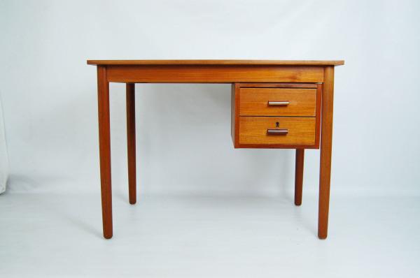 teak desk, with drawers, Danish modern, modern, mcm, mod, Scandinavian, home decor, vintage, Seattle, midcentury55, furniture,