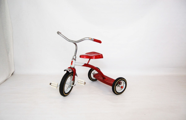 1960s, MCM, Stainless steel, North west, West coast, Red tricycle, red flyer, AMF Junior,  Seattle, Washington, WA, mcm, mod, mid century modern, vintage, mid century 55, midcentury55, Seattle, 1950s, vintage,  ride on toy, kids, children, toddler,