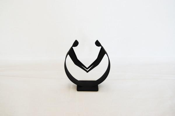 Danish modern, Winckler, metal holding hands, Sculpture, made in Denmark, black, mid century modern, mcm, mod, Scandinavian, home decor,