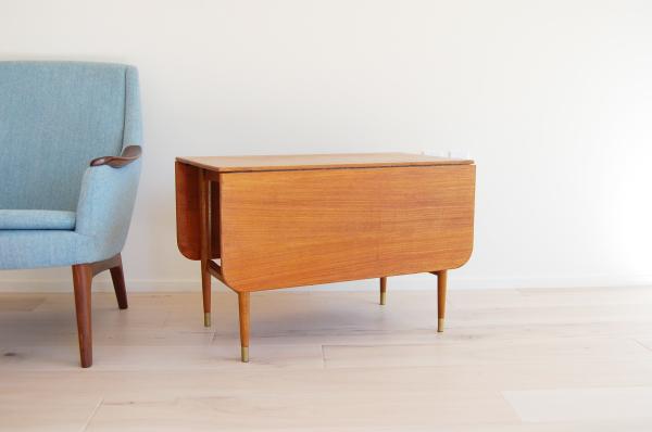 Danish modern, mcm, mod, Scandinavian, home decor, teak, expandable, extensions, side table, end table, vintage, furniture,  midcentury55, Seattle
