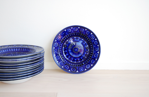 Arabia Finland, Valencia, Soup plate, Ulla Procope, cobalt blue, Scandinavian, modern, modern, mcm, mod, Scandinavian, home decor, vintage, Seattle, midcentury55,