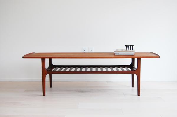 teak, coffee table, with magazine shelf, Scandinavian, Danish modern, modern, mcm, mod, Scandinavian, home decor, vintage, Seattle, midcentury55, furniture,