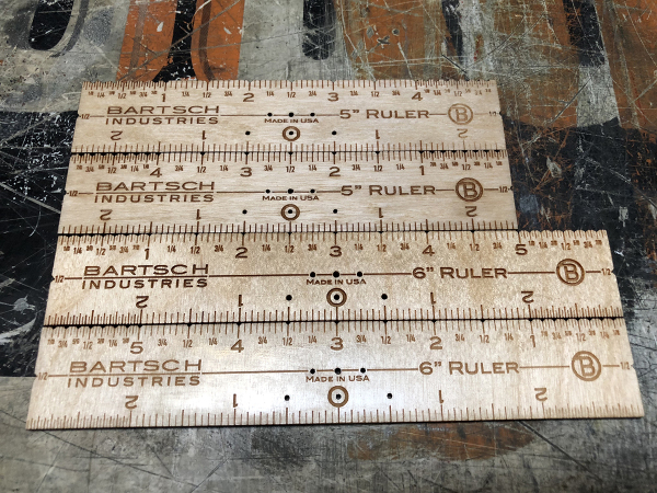 "5"" & 6"" left & Right read rulers"