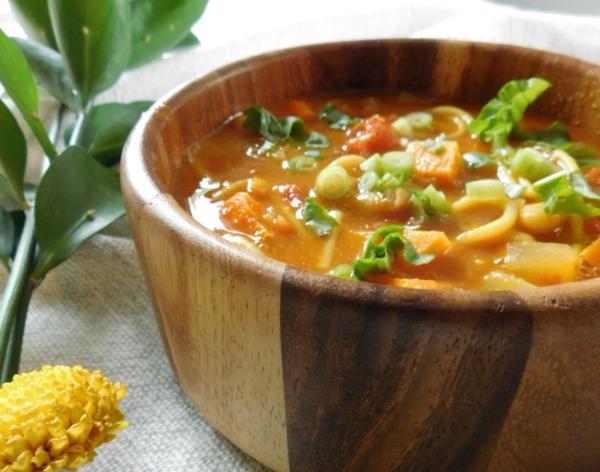 Turmeric vegetable dish soup