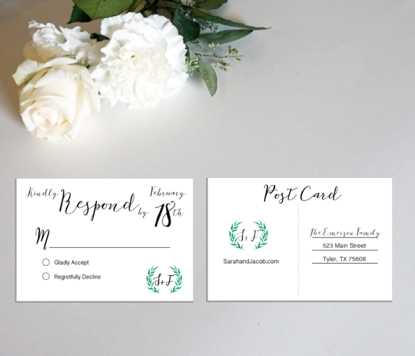 Custom Wedding RSVP Card