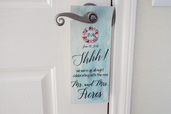 Custom Hotel Door Hanger