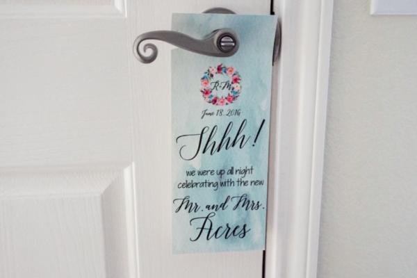 Custom Hotel Door Hanger